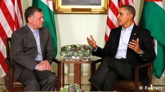 US President Barack Obama with King Abdullah II of Jordan