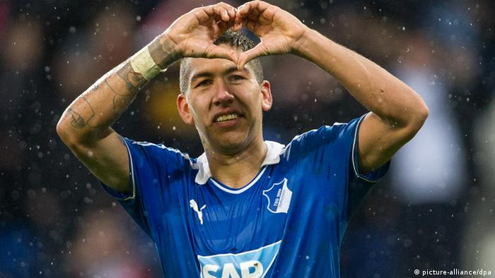 Firmino makes the heart gesture