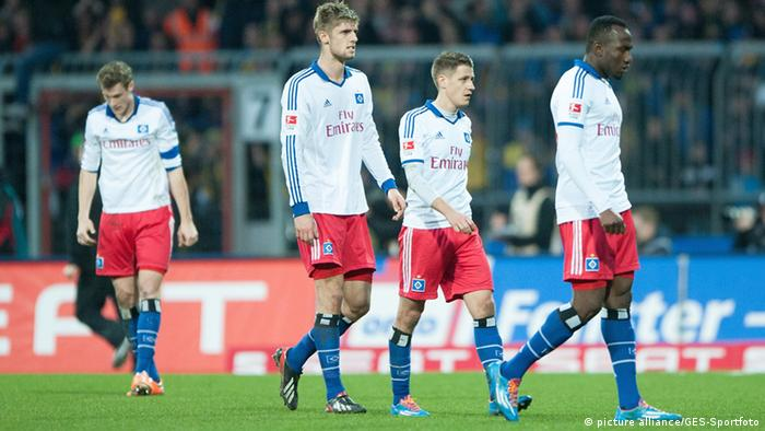 Hamburg players looking depressed