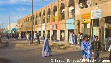 Central bazaar of Nouakchott, Mauritania, Africa Keine Weitergabe an Drittverwerter.
