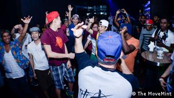 Participants at a hip-hop concert in Kuala Lumpur