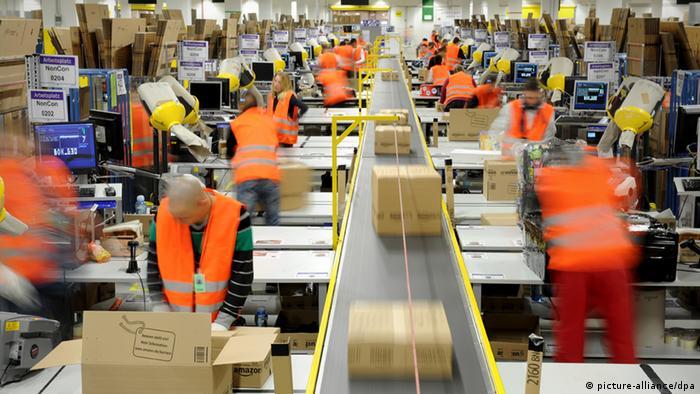 Amazon facility in Pforzheim, Germany