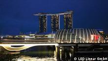 Der neue Hafen in Singapur Copyright: LED Linear GmbH ***NUr zur Berichterstattung über die LED Lampen der Firma LED Linear GmbH!****
