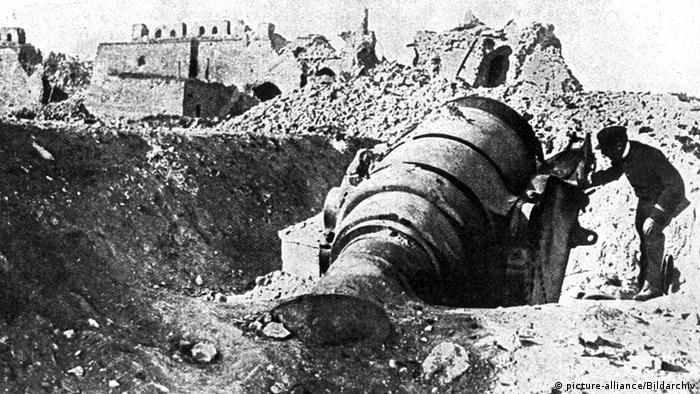 Erster Weltkrieg Türkei Mörsergeschütz