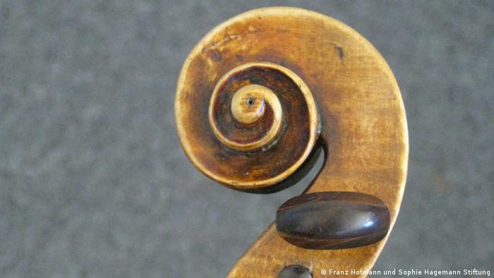 The violin was crafted in the 18th century in Italy's Cremona