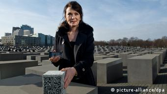 Iris Berben Holocaust Denkmal in Berlin 17.02.2014