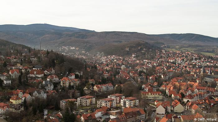 Aerial view over the village of Wernigerode, Photo: DW / K. Sacks
