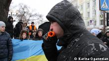 Ukraine Donetsk Demonstration Demo