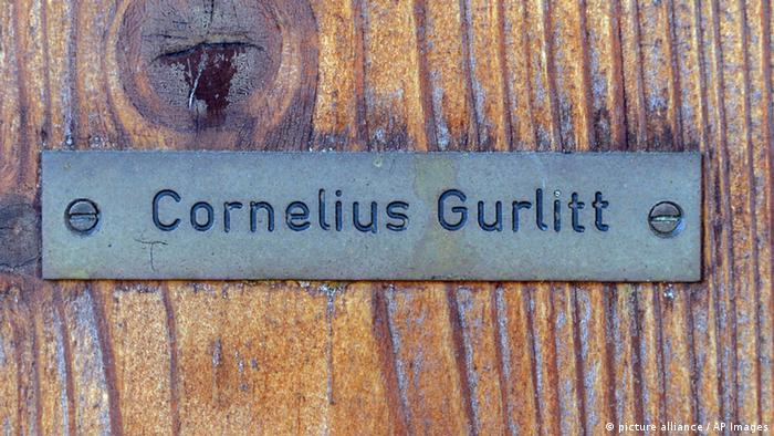 Türschild Cornelius Gurlitt in Salzburg