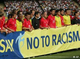 Condemning racism as part of World Cup protocol
