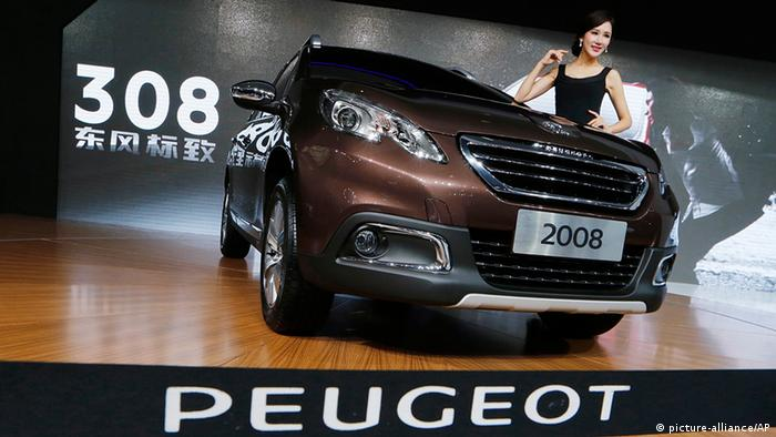 China Frankreich Wirtschaft Auto Dongfeng Peugeot Citroen Automesse in Guangzhou