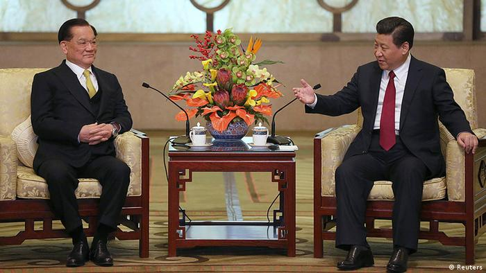 China Taiwan Parteien Lien Chan bei Xi Jinping in Peking
