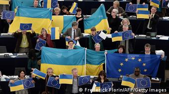 The European Parliament shows its support for Ukraine