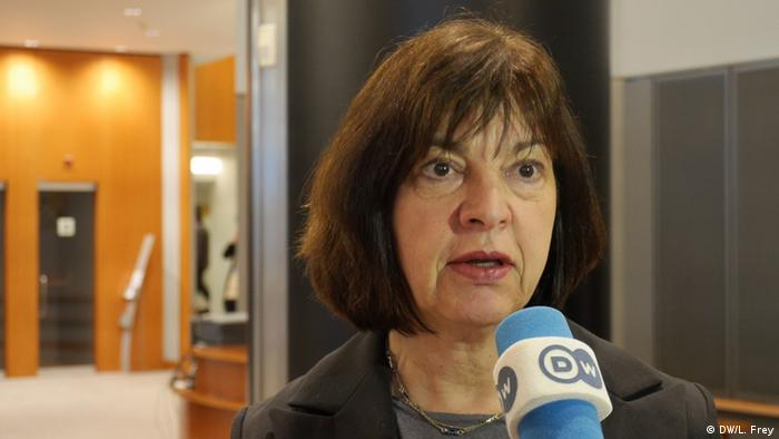 Rebecca Harms in Europaparlament (Foto: Luisa Frey/ DW(