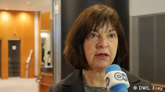 Die Fraktionsvorsitzende der Grünen im Europaparlament, Rebecca Harms, Foto: DW