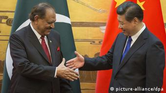 Pakistans Präsident Mamnoon Hussain in China