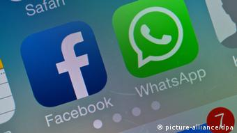 Facebook and WhatsApp symbols