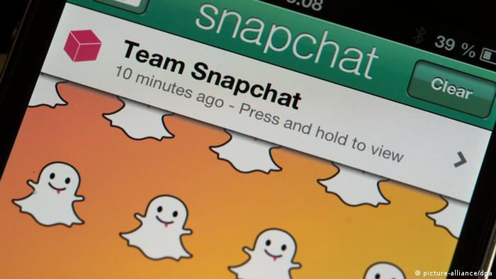 Snapchat App Soziale Netzwerke