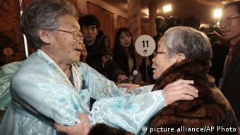 Nordkorea Treffen mit Familienmitgliedern aus Südkorea 22.02.2014