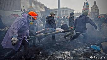 Dozens of protesters have died in Kyiv street riots