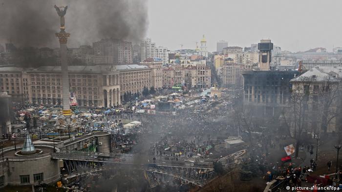 Bilder, die an einen Bürgerkrieg erinnern: der Maidan am 20. Februar (Foto: dpa)