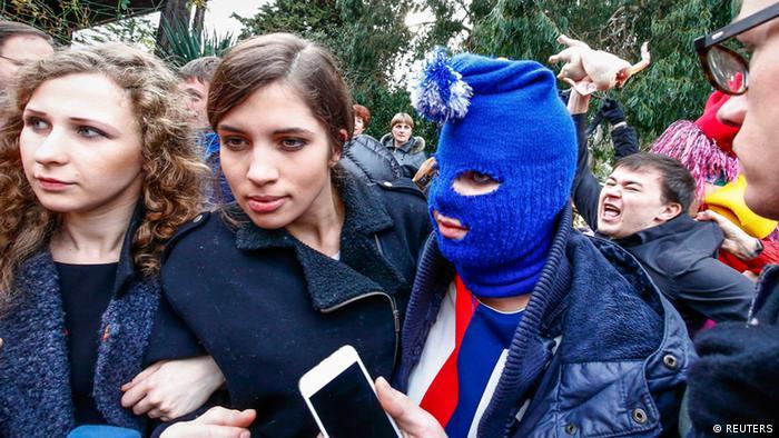 Участницы Pussy Riot в Адлере