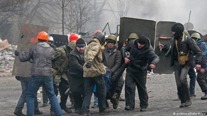 Proteste auf dem Maidan in Kiew am 20.02.2014 (Foto: EPA/SERGEY DOLZHENKO)