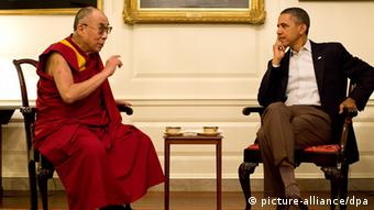 USA China Tibet Barack Obama und der Dalai Lama Juli 2011