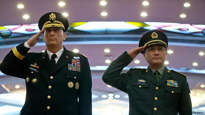 China USA General Raymond Odierno und Wang Ning in Peking (Reuters)
