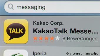 KakaoTalk shown in the Apple app store Photo: Jens Kalaene/dpa