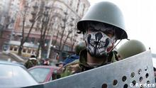 Ukraine Demonstranten Protestlager auf dem Maidan in Kiew