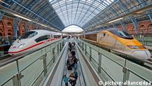 ICE 3 im Bahnhof St. Pancras International in London