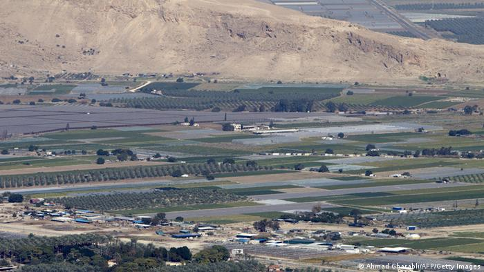 Panorama-Ansicht des Jordantals (Foto: AFP)