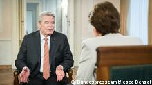 Bundespräsident Joachim Gauck in DW-Interview mit Dagmar Engel. Copyright: Bundespresseamt/Jesco Denzel