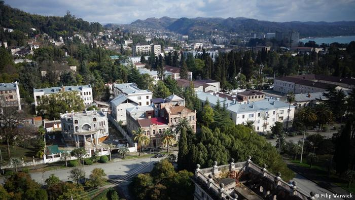 A picture of the subtropical paradise of Abkhazia.