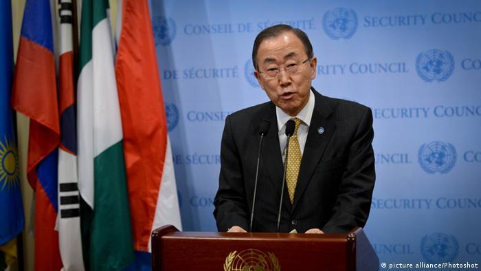 Ban Ki-moon UN Generalsekretär Treffen Sicherheitsrat Zentralafrikanische Republik