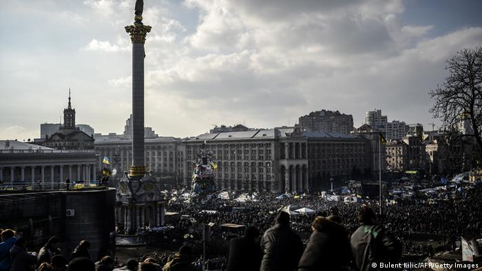 Demonstrators in Kyiv on February 21, 2014. (Photo: BULENT KILIC / AFP / Getty Images)