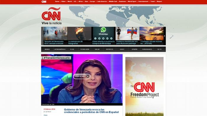 Screenshot CNN Espanol
