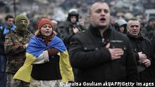 Ukraine Krise Platz der Unabhänhigkeit 22.02.2014