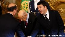 Matteo Renzi Amtseid Rom 22.02.2014