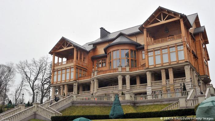 The area around Yanukovych's former luxury residence seized by the Ukrainian state