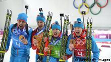 Olympische Winterspiele Sotschi 2014 Russland Biathleten