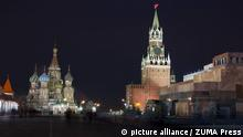 Feb. 2, 2014 - Moscow, Russia - Moscow - Red Square at night
