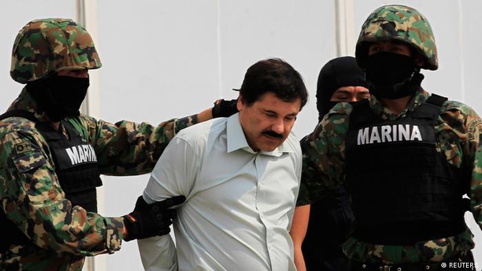 Captura de Joaquín Guzmán Loera, uno de los narcotrafcantes más buscados del mundo.