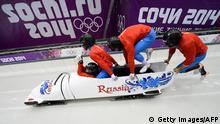 Olympische Winterspiele Sotschi Bobfahren Russisches Team