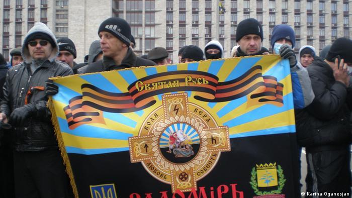 Ukraine Kundgebung in Donezk 23.02.2014