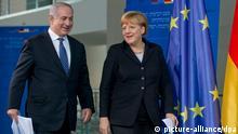 Angela Merkel und Benjamin Netanjahu