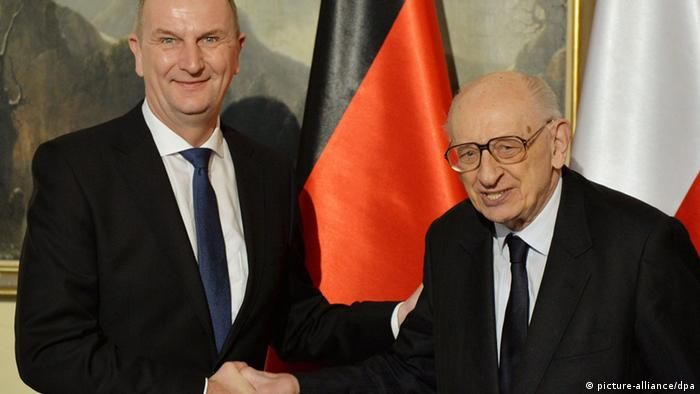 Pełnomocnicy ds. stosunków polsko-niemieckich Dietmar Woidke i prof. Władysław Bartoszewski