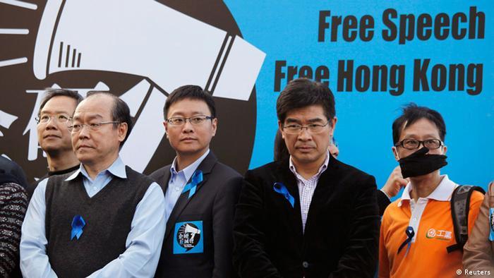Journalisten Protest Hongkong (Reuters)