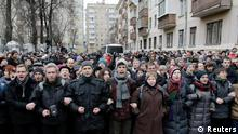 Moskau Demo gegen Bolotnaja Urteil 24.02.2014
